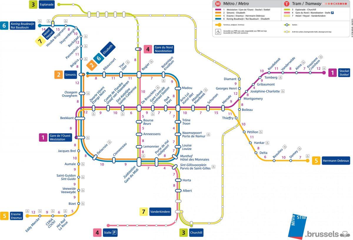map metro bruxelles
