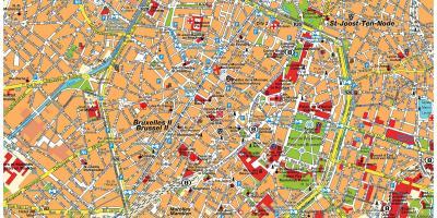 street map brussels belgium